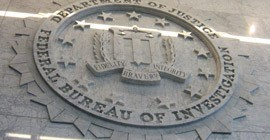 FBI Headquarters Marble Entry Sign